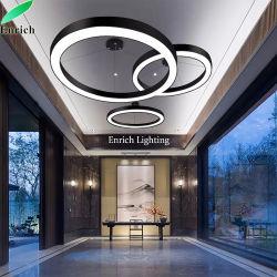 Алюминиевая LED люстра ресторан исследование номер с одной спальней кольцо подвесной светильник гостиной потолочный светильник