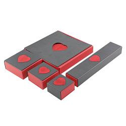 Collar Colgante rojo Zarcillo Pulsera Anillo Joyeria Embalaje Caja de regalo
