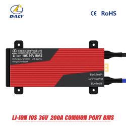 10의 시리즈 36V BMS/36V E 자전거 Li 이온 건전지 10s에 사용되는 PCM 10s 36V 200A BMS 균형 기능