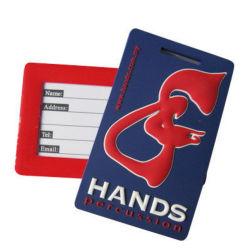 Logo-Geprägte PVC-Gepäckanhänger für Werbegeschenke (YB-LT-04)