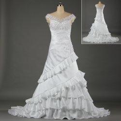 Col V unique robes de mariée blanche pour les mariages W050