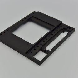 A anodização preta partes separadas médicos com peças de moagem de CNC de alumínio
