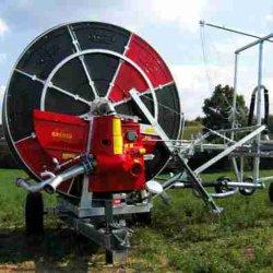 2019 المياه الزراعية خرطوم بكرة آلة الري مع مدفع الرش