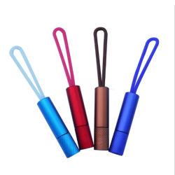 Indicatore luminoso chiave portatile su ordinazione del silicone LED del regalo della mini di alluminio della lega torcia elettrica di Keychain
