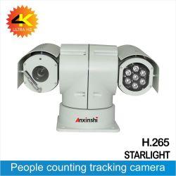 4K 22X Starlight Analyse intelligente de détection de mouvement de ligne de passage de détection de visage caméra série du véhicule de police