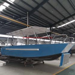 Barco de buceo de aluminio de 26Ft Desembarco con cobertizo metálico