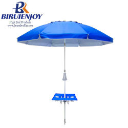 7 Ft Glasvezel Sun Beach Paraplu Met Instant Table & Anchor - Pacific Blue