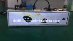 Supermarché 27.6pouces bord du plateau lecteur de bande de l'écran LCD de la publicité pour les annonces vidéo étirée Bar de la publicité LCD Player