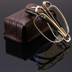 Горячая продажа оптовой против синего цвета ЭБУ системы блокировки складной чтения очки складная чтения очки с корпусом