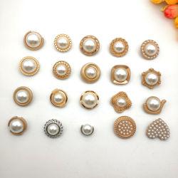 Lady T-shirt de vêtements en métal bouton de la queue de fixation pour vêtement Pearl