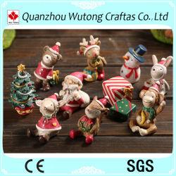 De in het groot Gepersonaliseerde Gift van de Ornamenten van de Beeldjes van Kerstmis Polyresin Mini