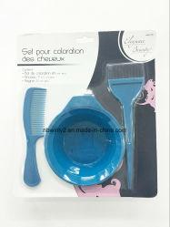3PCS синий пластиковый оттенок щетки с чаши