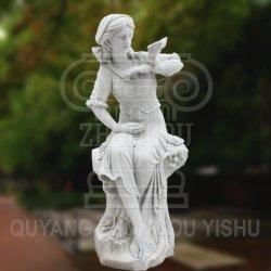 تمثال سيدة الرصف من الرخام الطبيعي لنحت ديكور الحديقة