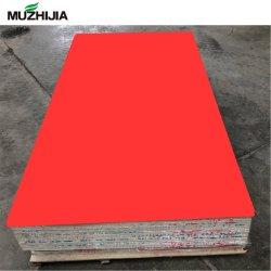 Haute brillance feuille de plastique PVC UV de marbre couleur pure au Cabinet pour la décoration de surface
