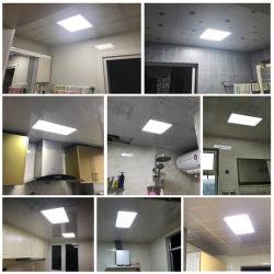 38W 48Вт 595X595, 600X600 Суперяркий Side-Lit квадратные светодиодные потолочные панели освещения опоры маятниковой подвески на коммерческих