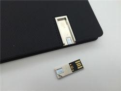 Taccuino di cuoio per azionamento dell'istantaneo del USB dell'uomo e dell'allievo di affari