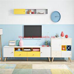 Haute brillance meuble TV moderne en bois meuble TV
