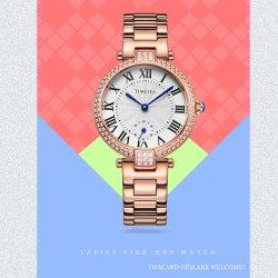Horloge van de Juwelen van de Pols van het Kwarts van het Kristal van het Roestvrij staal van dames het Analoge (71041)