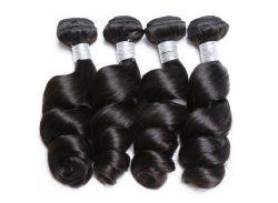 """16"""" de longueur moyenne des extensions de cheveux 100% réelle des cheveux ondulés noir aucune effusion aucun enchevêtrement d'épaisseur bas prix de gros fabricant de produits de cheveux"""