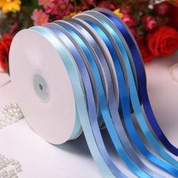 인쇄된 굵은 삼베 메시에 의하여 타전되는 Sequin 발 자카드 직물 물방울 무늬 리본
