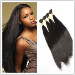100% Indian Remy virgem a granel de cabelo humano Reta