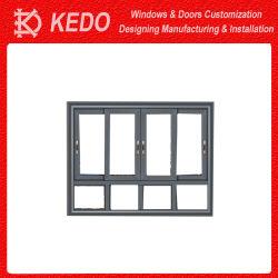 Алюминий поднимите и сдвиньте дверей с двойными стеклами для зданий