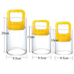 Bol en verre vide vide vide des conteneurs de stockage alimentaire Jar Jar sous vide de verre