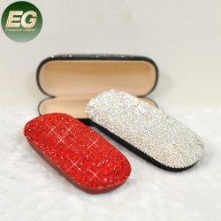 Ea012 휴대용 큰 Sparkly 수정같은 색안경 가관은 빛나는 단단한 쉘 모조 다이아몬드 안경알 상자를 싼다