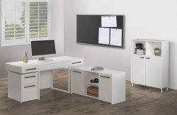 본사 가구 거실 형식 현대 나무로 되는 백색 색깔 책상 매니저 테이블 컴퓨터 책상