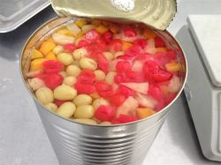 Las conservas de fruta fresca de Alimentos Enlatados de cócteles con alta calidad