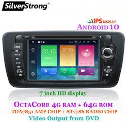 Silverstrong Android 10, автомобильный радиоприемник Multimidia DVD Player GPS, для Seat Ibiza 6j 2009-2013, CarPlay, Навигация, 2DIN CD/DVD, Bluetooth