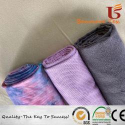 Ткань из микрофибры без пробуксовки колес Быстрый сухой против бактериальных йога полотенце и банными полотенцами.