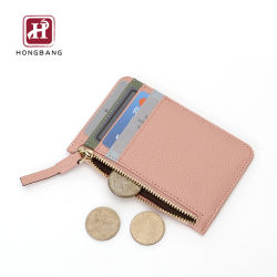 Moneda de cierre con cremallera Bolsillo tarjetahabiente titular de la tarjeta RFID el bloqueo de PU