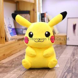 Animali farciti su ordinazione di vendita di colore giallo della peluche dei giocattoli del bambino dell'abbraccio di Pikachu dei capretti popolari molli molli caldi dei giocattoli