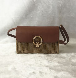 Sommer-Form PU-Kontrast-handgemachte Stroh-Strand-Handtasche für Damen