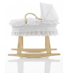 Plegable de Madera de pino macizo Cesta Moisés para bebés soporte