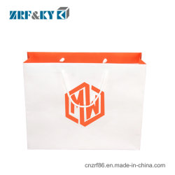 Papel Kraft Impressos promocionais personalizadas transportar malas com logotipo comercial