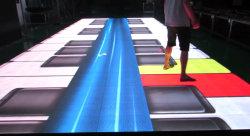 سعر الجملة الشاشة التفاعلية الداخلية الفيديو RGB LED الطابق الرقص مربع لألعاب الأطفال