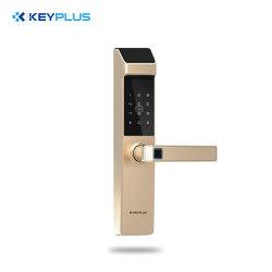 Steuerintelligenter Fingerabdruck-Aluminiumtür-Verschluss Sicherheit APP-Bluetooth WiFi