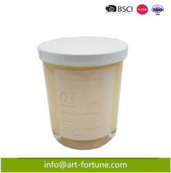 Cera di candela di vaso di soia profumata di vetro di lusso in fabbrica cinese