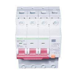 Interruttore elettronico RCBO RCCB di MCB 3p+N 30mA 50mA 100mA 300mA