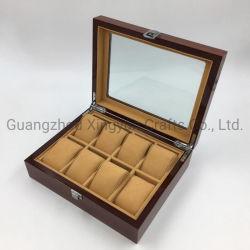 고급스런 목재 창문 박스 목재 시계 콜렉션 케이스 목재 포장 상자