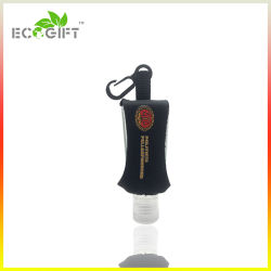 Neoprene promozionale con il formato di corsa della casella del supporto del prodotto disinfettante della mano di Carabiner