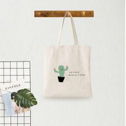 Cheap Blanco Natural orgánica impresa Calico Tote Compras la bolsa de algodón/ Oeko-Tex 100, Gots, Algodón reciclado con Grs.