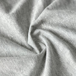 Grey Heather Lurex spandex polyester Tissu de rayonne de robe à la mode