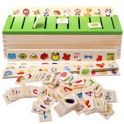 Mein erstes Erlernen- der Sprachespielzeug Montessori früh pädagogisches hölzernes Puzzlespiel-Spielwaren-Kind-Intelligenz-Lernen-Puzzlespiel