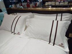 2020 Bett-Blatt-Bett-Bettwäsche das fünf Stern-Hotel-des König-Size stellten das 100% Weiß-Baumwolle mit Duvet-Deckel ein