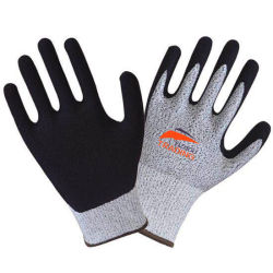 I guanti del lavoro del Sandy del nitrile di Hppe del calibro di qualità 13 di premio di sicurezza hanno tagliato il Livello resistente 3-5