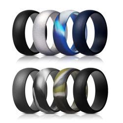Мужские силиконовая свадебные кольца свадебные Band 8.7mm широкий уплотнительное кольцо логотип