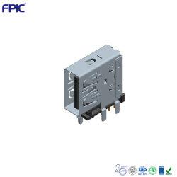 직각 DIP PCB 보드 충전기 잭 90도 수직 USB 2.0 ~ Hole Electronics 예비 부품